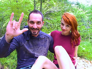 Lydya Moser in Redhead in the Forest - PegasProductions