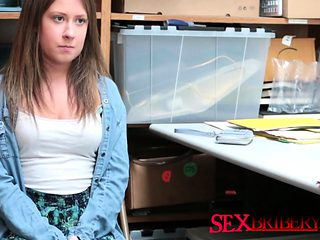 Brunette accepted the hot office quickie