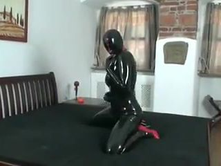 High heel latex sex