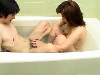 Best Japanese model in Incredible Anal, Bathroom JAV movie