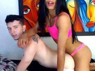 Pretty pink panties anals her lover