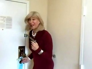 Amazing homemade shemale movie with Stockings, Blowjob scenes