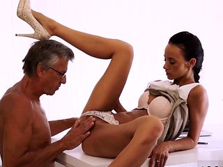 French daddy Finally she's got her boss dick