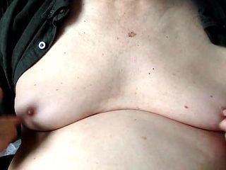 Nipple orgasm closeup