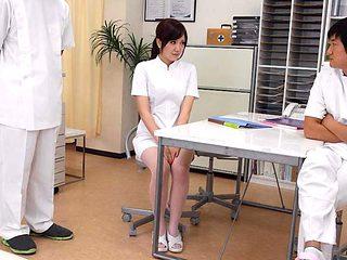 Yuri Konishi in Nurse, Yuri Konishi has a particular working style - AviDolz