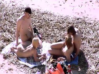 Nudist swingers caught in sexy action