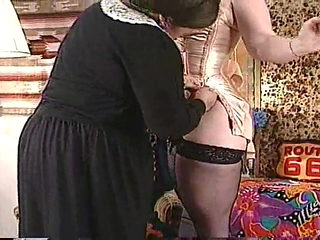 BBW bustin' out of a corset!