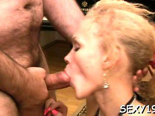 Hottie gives old teacher irrumation till she gets cumshot
