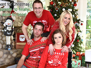 Riley Mae in Heathenous Family Holiday Card - FamilyStrokes