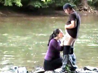 Couple fucking at the lake side
