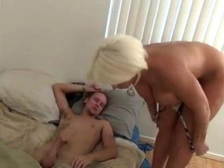 Alura takes care of morning wood