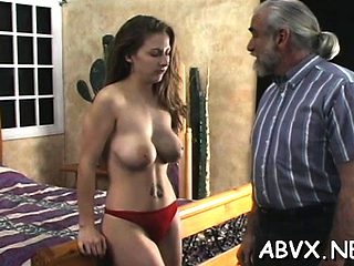 Young hottie endures harsh treatment on her twat and tits