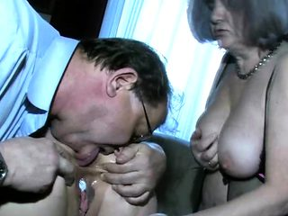 Naughty Old Couple With a CallGirl