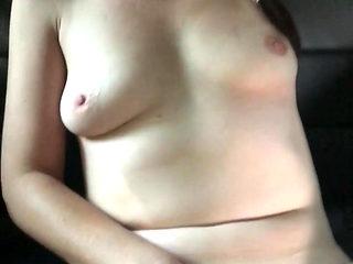 Cheating Wife masturbating in car
