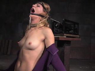 Slave made to suck big cock by her masters