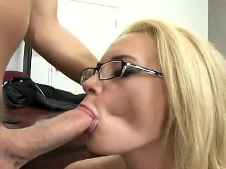 Bodacious and horny milf Cameron enjoys a hard fucking in the office