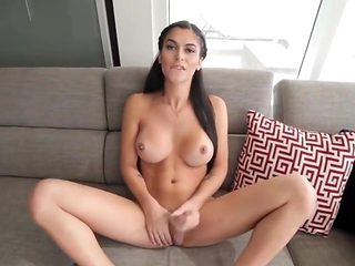 Awesome shemale shows her sexy body and masturbates