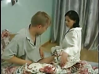 Young guy forced nurse suck his cock and fucks in different poses