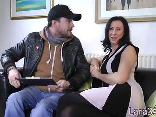 UK mature jizzed on asshole after doggystyled
