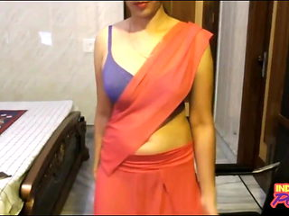 Indian Punjabi College Girl In Sari Exposing Clean Pussy