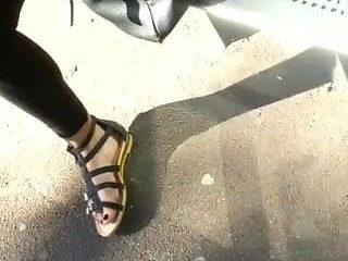 Feet in bus stop
