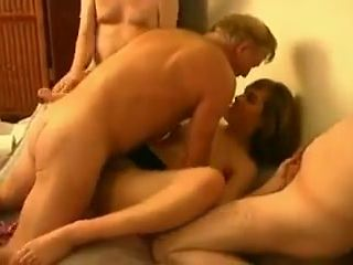 Wife in bed with 4 much older men!