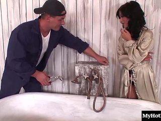 Ravishing honey Angelika Black delivers a fascinating blowjob