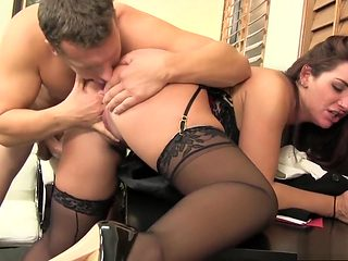 Ravishing new employee Savannah plays out her fantasies with her boss