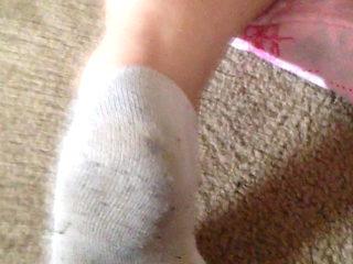 wife Anal with socks