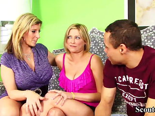 MILF TEACH TWO TEENS HOW TO FUCK AND JOIN IN THREESOME