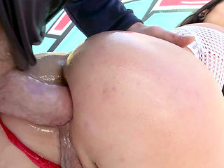 TRUE ANAL Mi Ha Doan is back for another ass fucking