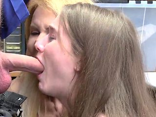 Hardcore big cock anal threesome and post office While