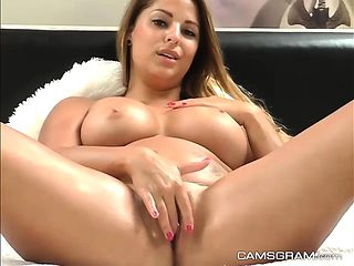 A Slutty Big Ass Busty Is Having Fun All By Herself