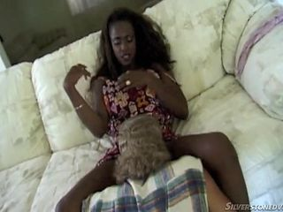 ebony chick loves white meat @ black beauties #03