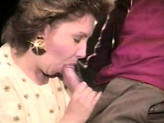 Perfect blowjob from a mature blonde hoe