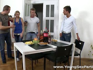 Young Sex Parties - Promesita - Adina - Teens fucking three-on-two