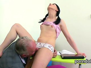Pretty schoolgirl is seduced and reamed by her older teacher