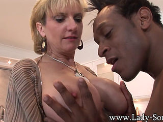Mature Blonde Fucked And Facialized In The Kitchen