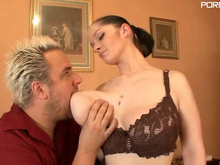 Busty Lisa Frelin Gets Her Big Tits Played With