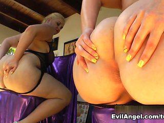 Hottest pornstars Roxy Raye, Luna C. Kitsuen, Felicia Clover in Fabulous Pornstars, Softcore porn...