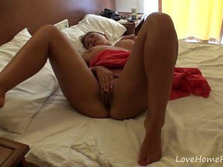 Hot Sonya enjoys playing with herself in bed