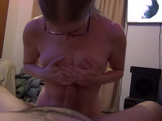 Milf giving aggressive bj and riding cock