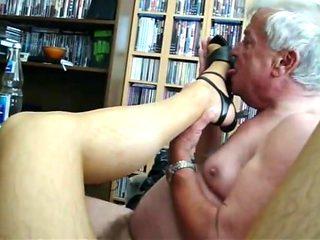 my older friend licks nylon feet and I enjoy (episode 1)
