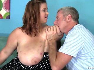 BBW Brunette Teen With Massive Tits Fucked