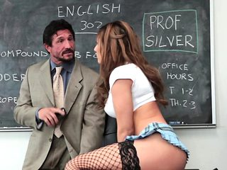 Real schoolgirl in stockings fucked nicely
