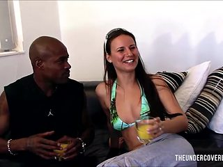 Bikini girl goes home with his BBC to have some fun