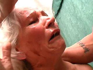 Horny Bbw Granny Norma Double Teamed
