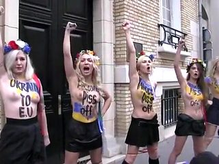 Naked pissing stunt is sexy form of political protest