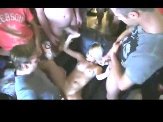 Czech orgy cum dumpster gangbang