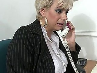 Sexy British Accent Women Stokes Herself